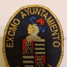 Militaria: PARCHE BORDADO POLICIA AGENTE ALGUACIL MUNICIPAL CASTEJÓN (NAVARRA). Lote 195436618