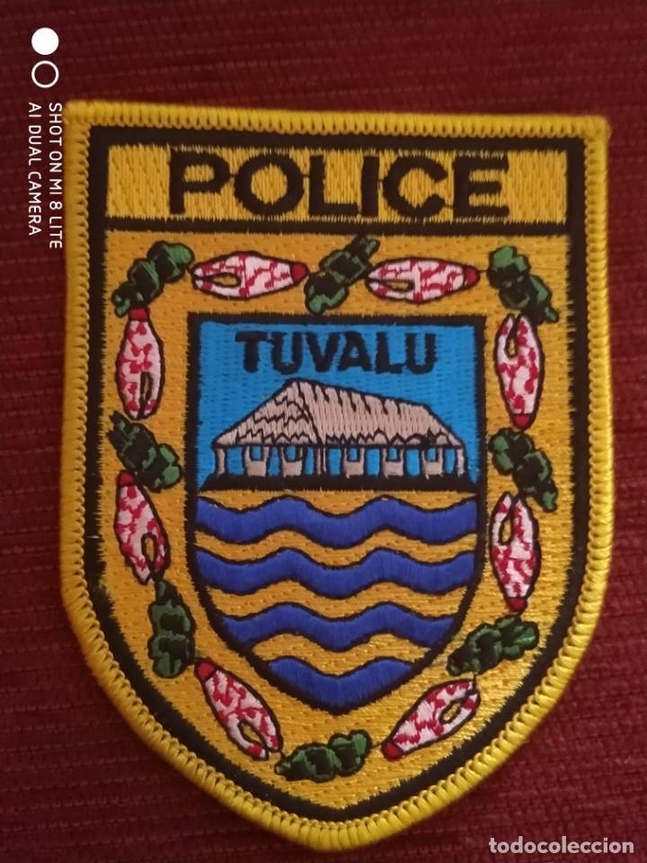 PARCHE POLCIA DE LAS ISLAS DEL PACIFICO POLICIA DE TUVALU (Militar - Parches de tela )