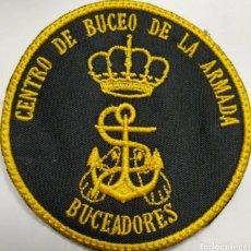 Militaria: PARCHE EMBLEMA BORDADO DEL CENTRO DE BUCEO DE LA ARMADA BUCEADORES. Lote 232134915