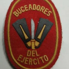 Militaria: PARCHE EMBLEMA PECHO ROJO BUCEADORES DEL EJÉRCITO 6×4 CMS. Lote 191241731