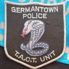Militaria: PARCHE POLICÍA. GERMANTOWN POLICE TACT UNIT (TENNESSEE-ESTADOS UNIDOS). Lote 32949132