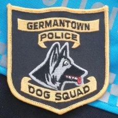 Militaria: PARCHE POLICÍA. GERMANTOWN POLICE DOG SQUAD (TENNESSEE-ESTADOS UNIDOS). Lote 32949145