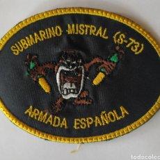 Militaria: PARCHE EMBLEMA SUBMARINO MISTRAL. Lote 239858585
