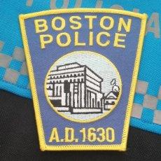 Militaria: PARCHE POLICÍA. BOSTON POLICE (MASSACHUSETTS-ESTADOS UNIDOS). Lote 32954884