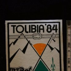 Militaria: PARCHE BOY SCOUT-CAMPAMENTO TOLIBIA-84. Lote 203427882
