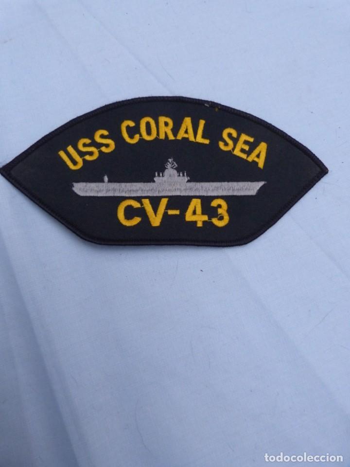 PARCHE BORDADO ESTADOS UNIDOS- PORTA AVIONES USS CORAL SEA (Militar - Parches de tela )