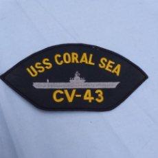Militaria: PARCHE BORDADO ESTADOS UNIDOS- PORTA AVIONES USS CORAL SEA. Lote 204427773