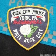 Militaria: PARCHE POLICIA. YORK CITY POLICE (PENNSYLVANIA-ESTADOS UNIDOS). Lote 28383112