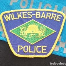 Militaria: PARCHE POLICIA. WILKES BARRE POLICE (PENNSYLVANIA-ESTADOS UNIDOS). Lote 28383125