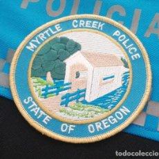 Militaria: PARCHE POLICIA. MYRTLE CREEK POLICE (OREGON-ESTADOS UNIDOS). Lote 28383619