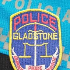 Militaria: PARCHE POLICIA. GLADSTONE POLICE (OREGON-ESTADOS UNIDOS). Lote 28383632