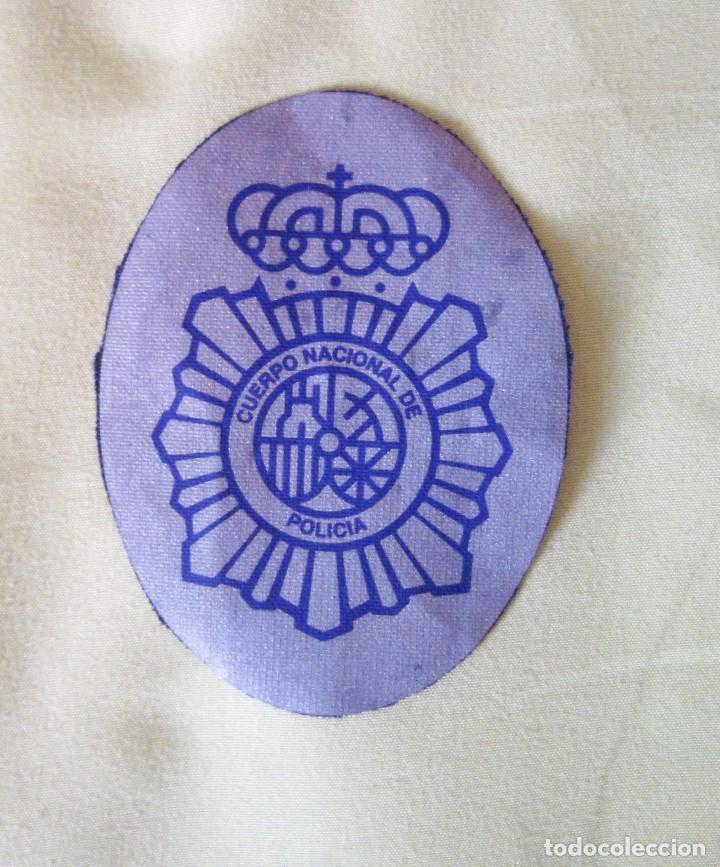 PLACA DEL CUERPO NACIONAL DE POLICIA. MATERIAL REFLECTANTE. TAMAÑO PEQUEÑO. (Militar - Parches de tela )