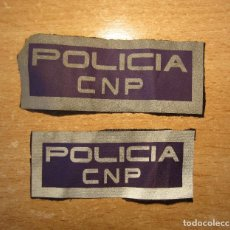 Militaria: LOTE DOS EMBLEMAS DE POLICIA CUERPO NACIONAL POLICIA. MATERIAL REFLECTANTE.. Lote 206496306