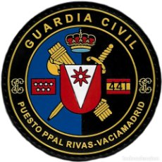 Militaria: GUARDIA CIVIL PUESTO PRINCIPAL RIVAS VACIAMADRID PARCHE INSIGNIA EMBLEMA EB01466. Lote 207101653