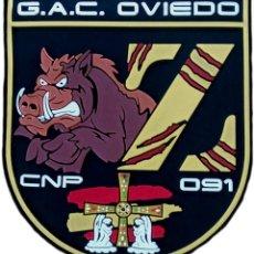Militaria: POLICÍA NACIONAL CNP GAC OVIEDO JABALÍ PARCHE INSIGNIA EMBLEMA EB01432. Lote 207102513