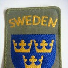 Militaria: PARCHE DE TELA SWEDEN. Lote 207325165