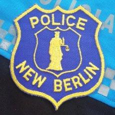 Militaria: PARCHE POLICÍA. NEW BERLIN POLICE (WISCONSIN-ESTADOS UNIDOS). Lote 32957067