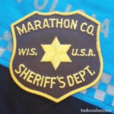 Militaria: PARCHE POLICÍA. MARATHON CO SHERIFF'S DEPT (WISCONSIN-ESTADOS UNIDOS). Lote 32957072