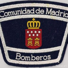 Militaria: PARCHE EMBLEMA ESCUDO BOMBERO BOMBEROS COMUNIDAD DE MADRID. Lote 208670458