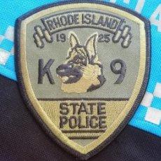 Militaria: PARCHE POLICÍA. RHODE ISLAND STATE POLICE, K-9 (RHODE ISLAND-ESTADOS UNIDOS). Lote 32948359