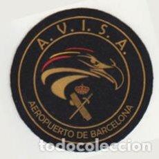 Militaria: PARCHE AVISA GUARDIA CIVIL BARCELONA PENÚLTIMO LOTE. Lote 210461026