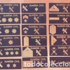 Militaria: 18 PARCHES PECHO GAR GUARDIA CIVIL. Lote 210956366