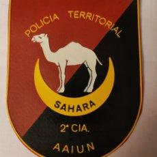 Militaria: PARCHE EMBLEMA POLICÍA TERRITORIAL 2 CIA. AAIUN. Lote 211652739