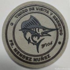 Militaria: PARCHE DE BRAZO EN PLÁSTICO INYECTADO DE LA F-104 FRAGATA MÉNDEZ NÚÑEZ. Lote 211652993