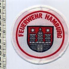 Militaria: PARCHE BOMBEROS HAMBURGO - ALEMANIA. Lote 213669095