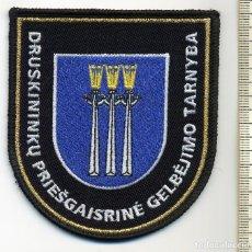 Militaria: PARCHE BOMBEROS DRUSKININKU - LITUANIA. Lote 213669915