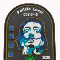 Militaria: PARCHE POLICÍA LOCAL CADAQUÉS (COVID-19) DALÍ (PVC 2D CON VELCRO). Lote 213697788