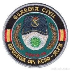 Militaria: PARCHE GUARDIA CIVIL GIPUZKOA COVID-19 (VELCRO). Lote 213697856