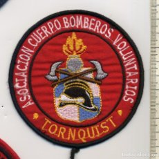 Militaria: PARCHE BOMBEROS TORNQUIST - ARGENTINA. Lote 213986575