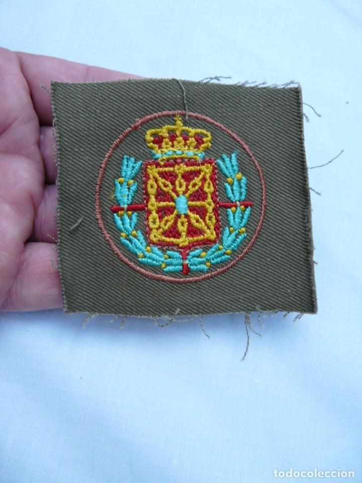 PARCHE CARLISTA CUERPO DE EJERCITO DE NAVARRA - REQUETE GUERRA CIVIL (Militar - Parches de tela )
