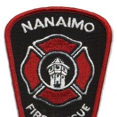 Militaria: PARCHE BOMBERO NANAIMO - CANADÁ - FIRE RESCUE. Lote 215108557