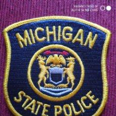 Militaria: PARCHE EMBLEMA DISTINTIVO POLICIAL, POLICIA ESTADO DE MICHIGAN . ESTADOS UNIDOS USA.. Lote 215143157