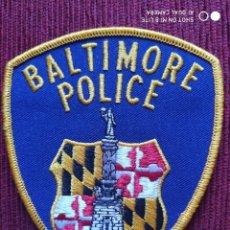 Militaria: PARCHE EMBLEMA DISTINTIVO POLICIAL BALTIMORE , POLICIA ESTADOS UNIDOS USA. Lote 215143843