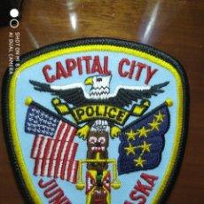 Militaria: PARCHE EMBLEMA DISTINTIVO POLICIAL POLICIA ALASKA CIUDAD CITY JUNEAU. Lote 215158945