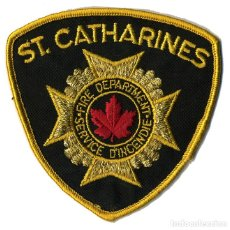 Militaria: PARCHE BOMBERO ST. CATHARINES - CANADÁ - FIRE DEPARTMENT - SERVICE D'INCENDIE. Lote 215399798