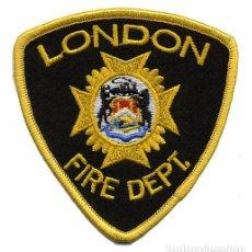 Militaria: PARCHE BOMBERO LONDON - CANADÁ - FIRE DEPT.. Lote 215399826