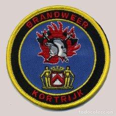 Militaria: PARCHE BOMBERO KORTRIJK - BÉLGICA - BRANDWEER. Lote 215590472