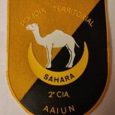 Militaria: PARCHE EMBLEMA POLICÍA TERRITORIAL 2 CIA. AAIUN. Lote 288909183