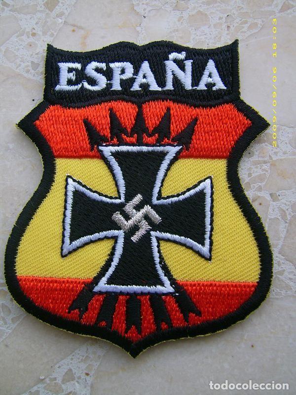 RÉPLICA PARCHE DE BRAZO DE LA DIVISIÓN AZUL. 2ª GUERRA MUNDIAL ALEMANIA - RUSIA. ESPAÑA (Militar - Parches de tela )