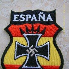 Militaria: RÉPLICA PARCHE DE BRAZO DE LA DIVISIÓN AZUL. 2ª GUERRA MUNDIAL ALEMANIA - RUSIA. ESPAÑA. Lote 274362828