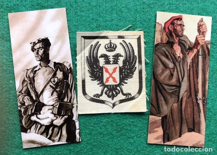 PARCHE DE TELA Y 2 MARCAPÁGINAS CARLISTAS (Militar - Parches de tela )