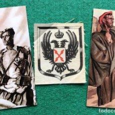 Militaria: PARCHE DE TELA Y 2 MARCAPÁGINAS CARLISTAS. Lote 216806911