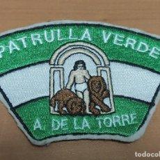 Militaria: PARCHE DE BRAZO EN TELA DE POLICIA LOCAL, PATRULLA VERDE ALHAURIN DE LA TORRE. Lote 217179358