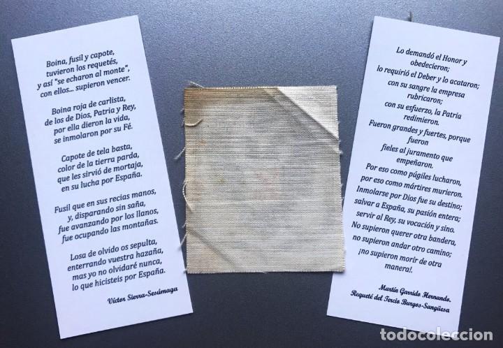 Militaria: Parche de tela y 2 marcapáginas carlistas - Foto 2 - 216806911
