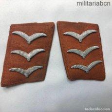 Militaria: ALEMANIA III REICH. INSIGNIAS DE CUELLO DE CABO PRIMERO DEL CUERPO DE SEÑALES DE LA LUFTWAFFE.. Lote 218017865