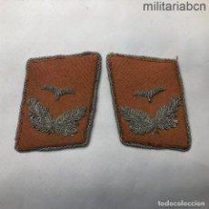 Militaria: ALEMANIA III REICH. INSIGNIAS DE CUELLO DE ALFÉREZ DEL CUERPO DE SEÑALES DE LA LUFTWAFFE.. Lote 218018845